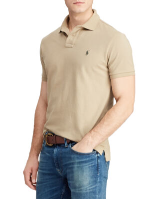 Polo Ralph Lauren Custom Slim Cotton Mesh Polo Boating Khaki