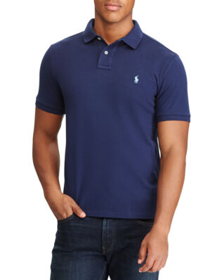 Polo Ralph Lauren Custom Slim Cotton Mesh Polo Newport Navy