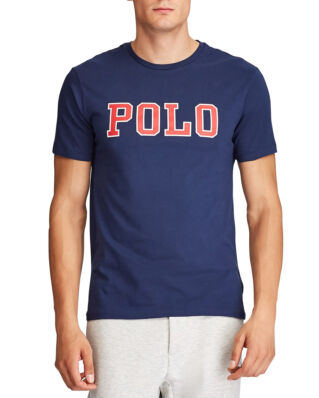 Polo Ralph Lauren Custom Slim Fit Graphic Tee Cruise Navy