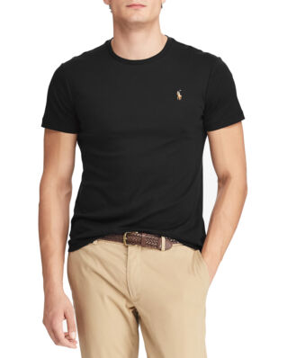 Polo Ralph Lauren Custom Slim Fit Interlock Tee Polo Black