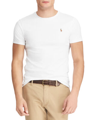 Polo Ralph Lauren Custom Slim Fit Interlock Tee White