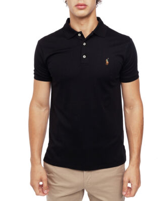 Polo Ralph Lauren Custom Slim Fit Mesh Polo Black