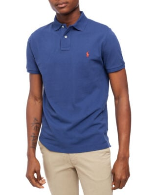 Polo Ralph Lauren Custom Slim Fit Mesh Polo Blue