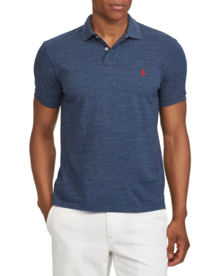 Polo Ralph Lauren Custom Slim Fit Mesh Polo Classic Royal Heather