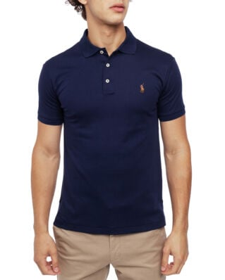 Polo Ralph Lauren Custom Slim Fit Mesh Polo French Navy