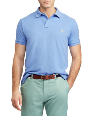 Polo Ralph Lauren Custom Slim Fit Mesh Polo Harbor Island Blue/Yellow