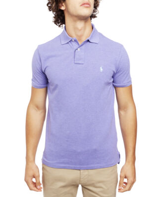 Polo Ralph Lauren Custom Slim Fit Mesh Polo Maidstone Purple Heather