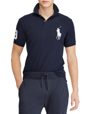 Polo Ralph Lauren Slim Fit Mesh Polo Newport Navy