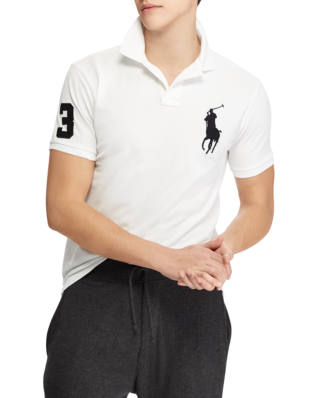 Polo Ralph Lauren Slim Fit Mesh Polo White