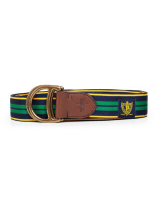 Polo Ralph Lauren Eques P Thru Casual Belt Frnch Nvy/Yllw Gld/Kelly Green