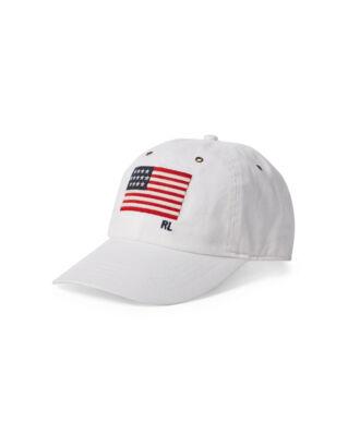 Polo Ralph Lauren Flag Chino Baseball Cap White