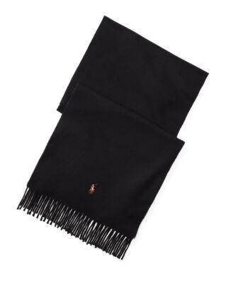 Polo Ralph Lauren Fringed Wool Scarf Black