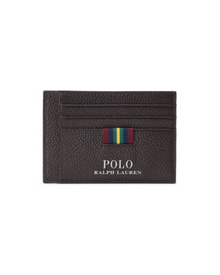 Polo Ralph Lauren Leather Money Clip Brown