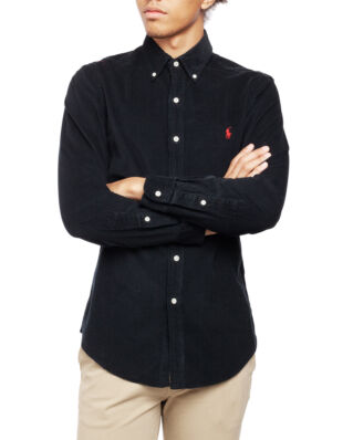 Polo Ralph Lauren Long Sleeve BD Sport Shirt Polo Black