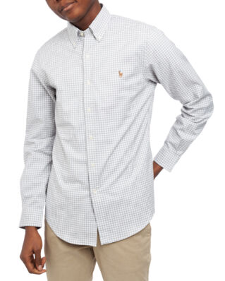 Polo Ralph Lauren Long Sleeve Classic Oxford Shirt Grey Heather/White