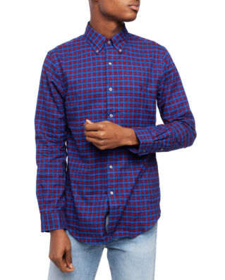 Polo Ralph Lauren Long Sleeve Holiday Shirt 4195 Crimson/Royal Multi