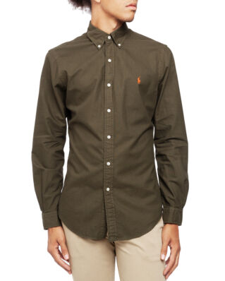 Polo Ralph Lauren Long Sleeve Sport Shirt Company Olive