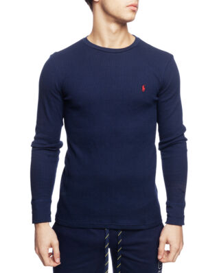 Polo Ralph Lauren L/S Crew Sleep Top Cruise Navy/Heart Red PP