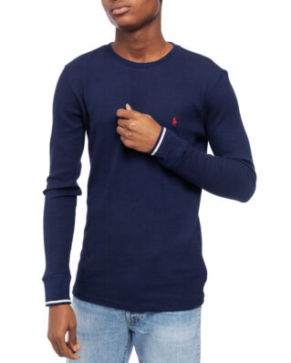 Polo Ralph Lauren L/S Waffle-Knit Crewneck T-Shirt Cruise Navy/Rl 2000 Red