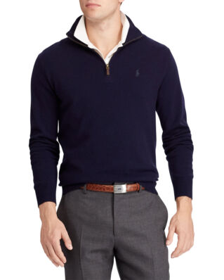 Polo Ralph Lauren Merino Wool Half-Zip Jumper Hunter Navy