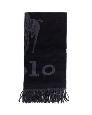 Polo Ralph Lauren Oversized Polo Scarf Black/Charcoal