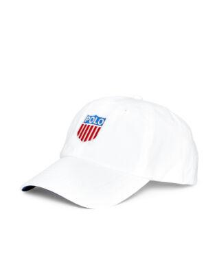 Polo Ralph Lauren Polo Shield Cotton Twill Cap Pure White W/Polo Crest