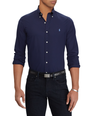 Polo Ralph Lauren Slim Fit Poplin Shirt Newport Navy