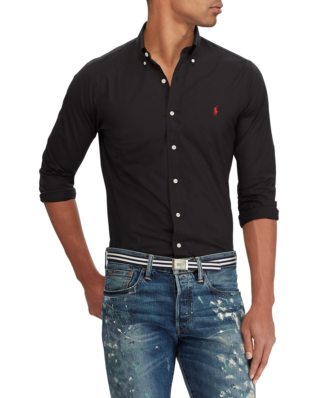 Polo Ralph Lauren Slim Fit Poplin Shirt Polo Black