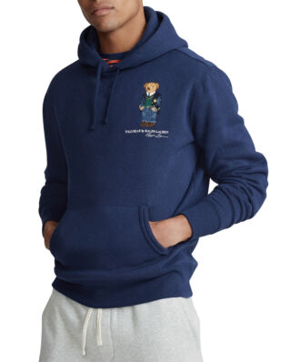 Polo Ralph Lauren Preppy Bear Fleece Hoodie Cruise Navy