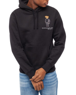 Polo Ralph Lauren Preppy Bear Fleece Hoodie Polo Black