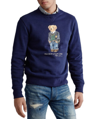 Polo Ralph Lauren Preppy Bear Fleece Sweatshirt Cruise Navy