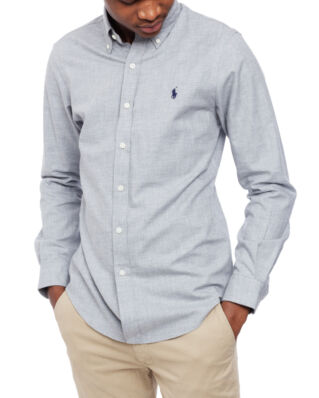 Polo Ralph Lauren Slim Fit Brushed Twill Shirt Light Grey Heather