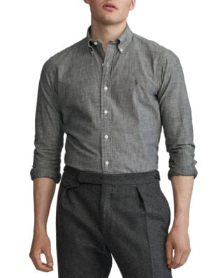 Polo Ralph Lauren Slim Fit Chambray Shirt 4220 Grey Chambray