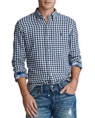 Polo Ralph Lauren Slim Fit Checked Shirt Navy/Cream