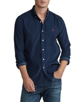 Polo Ralph Lauren Slim Fit Corduroy Shirt Cruise Navy