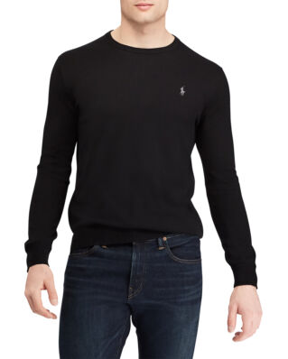 Polo Ralph Lauren Slim Fit Cotton Sweater Polo Black