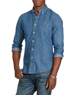 Polo Ralph Lauren Slim Fit Denim Sport Shirt Dark Wash