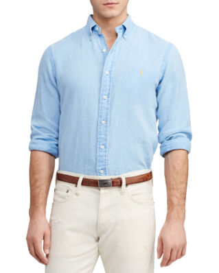 Polo Ralph Lauren Slim Fit Linen Shirt Riviera Blue