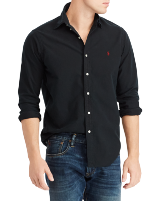 Polo Ralph Lauren Slim Fit Oxford Shirt Polo Black