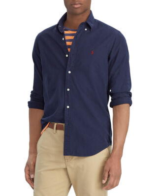Polo Ralph Lauren Long Sleeve Oxford Sport Shirt Slim Fit RL Navy