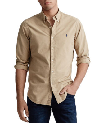 Polo Ralph Lauren Slim Fit Oxford Shirt Surrey Tan