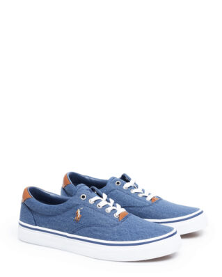 Polo Ralph Lauren Thorton Washed Twill Sneaker Newport Navy