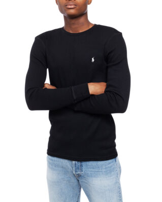 Polo Ralph Lauren Waffle-Knit Crewneck T-Shirt Polo Black