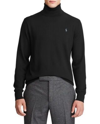Polo Ralph Lauren Washable Merino Wool Jumper Polo Black