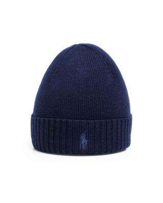 Polo Ralph Lauren Wool Signature Pony Hat Piper Navy