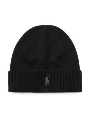 Polo Ralph Lauren Wool Signature Pony Hat Polo Black