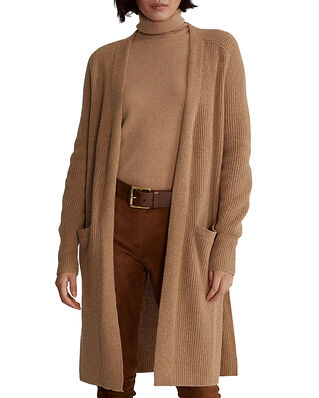 Polo Ralph Lauren Cardigan-Classic-Long Sleeve-Sweater Tan