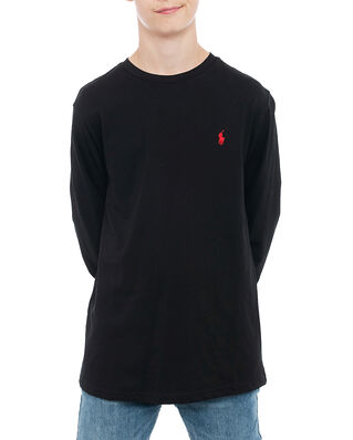 Polo Ralph Lauren Junior Ls Cn-Tops-T-Shirt Black