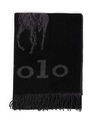 Polo Ralph Lauren Oversized St-Oblong Scarf Blk/Gry