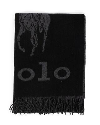 Polo Ralph Lauren Oversized St-Oblong Scarf Blk/Gry